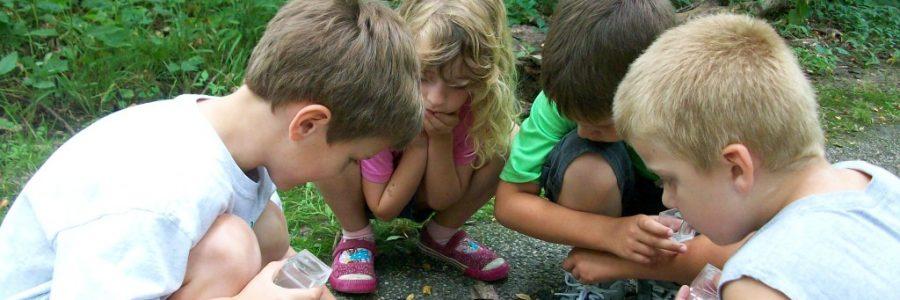 Gamtos gėrybės žaidžiant su vaiku